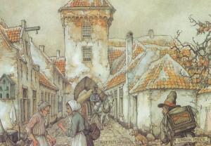 antonpiekHattem in de 19e eeuw  Kalenderplaat